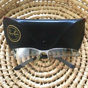 Ray-Ban Silver Slight Tint UV Protect Glasses